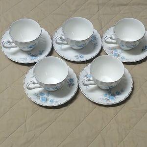 5 sets of mini tea mugs and saucer